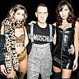 Taylor Hill and Bella Hadid With Jeremy Scott Backstage