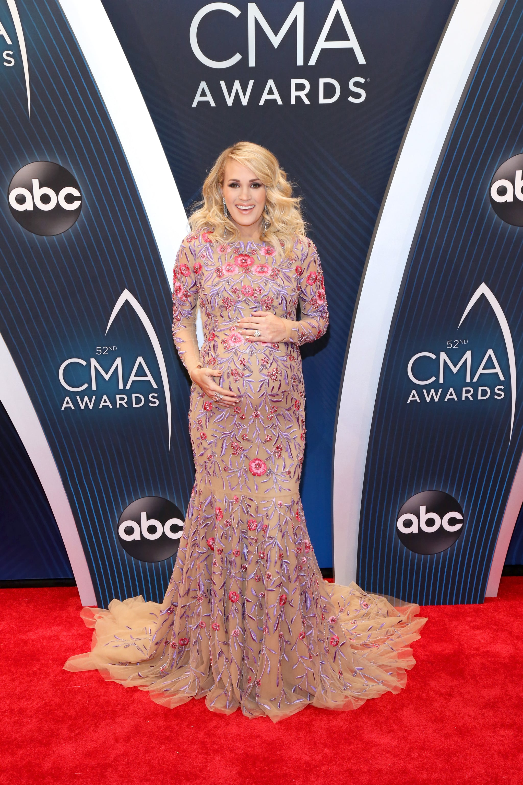 NASHVILLE, TN - NOVEMBER 14:  (FOR EDITORIAL USE ONLY) Carrie Underwood attends the 52nd annual CMA Awards at the Bridgestone Arena on November 14, 2018 in Nashville, Tennessee.  (Photo by Terry Wyatt/FilmMagic)