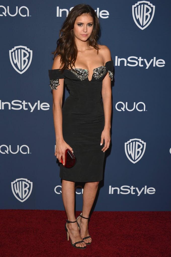 Nina Dobrev at the Netflix Golden Globes Afterparty