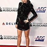 Miley Cyrus Wearing a Maison Francesco Scognamiglio Dress at the MusiCares Person of the Year Gala