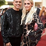 Ashlee Simpson and Evan Ross at 2018 Billboard Music Awards