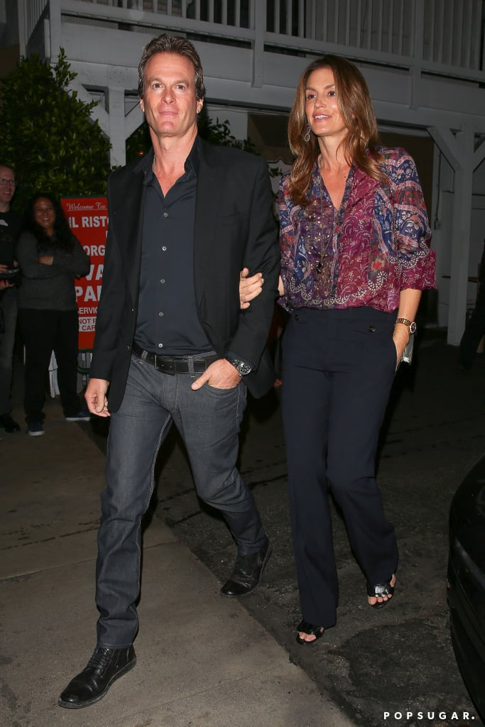 George Clooney on Double Date With Cindy Crawford Oct. 2016
