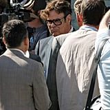 Dan Aykroyd got into character with thick-rimmed glasses.