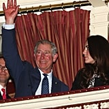 On their first joint engagement back in 2011 it was clear Kate was learning the ropes from her new father-in-law.