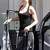 Miranda Kerr wore workout clothes.