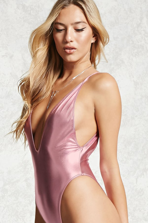 Forever 21 Metallic One-Piece Swimsuit