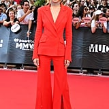 Gigi Hadid Red Suit at Much Music Video Awards 2016