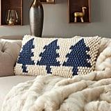 Xmas Tree Loops Christmas Throw Pillow
