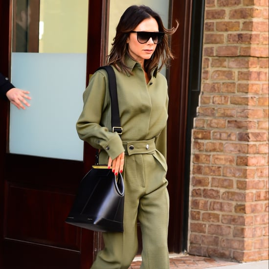 Victoria Beckham Green Jumpsuit November 2018