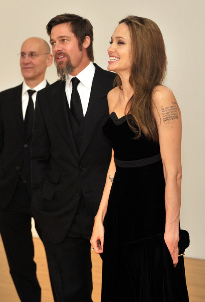 Brad Pitt and Angelina Jolie modeled their finest black-tie attire for a MOCA Gala in November 2009.
