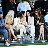 The Kardashians will sit front row.