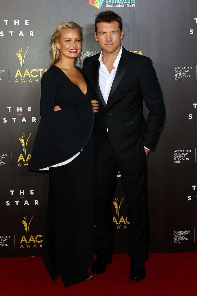 Lara Bingle and Sam Worthington at the 2014 AACTA Awards