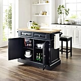 Oxford Butcher-Block Top Kitchen Island