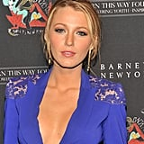 Blake Lively gave a smoky stare on the black carpet.