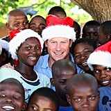 Prince Harry posed with a group of kids in Christmas hats at the Mants'ase Children's Home in 2014. His visit to Lesotho, South Africa, was part of a tour of his charity, Sentebale, which provides health care and education to vulnerable children in the area.