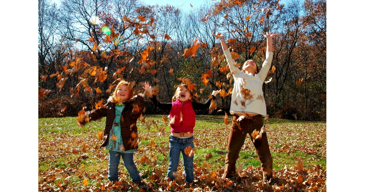 Image result for kids fall leaves