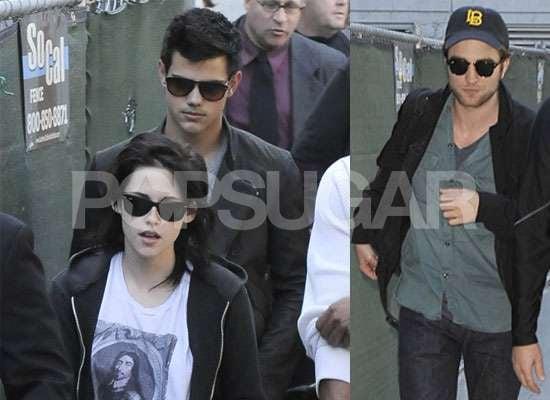 Photos of Robert Pattinson, Kristen Stewart, Taylor Lautner at New Moon in Munich and LA