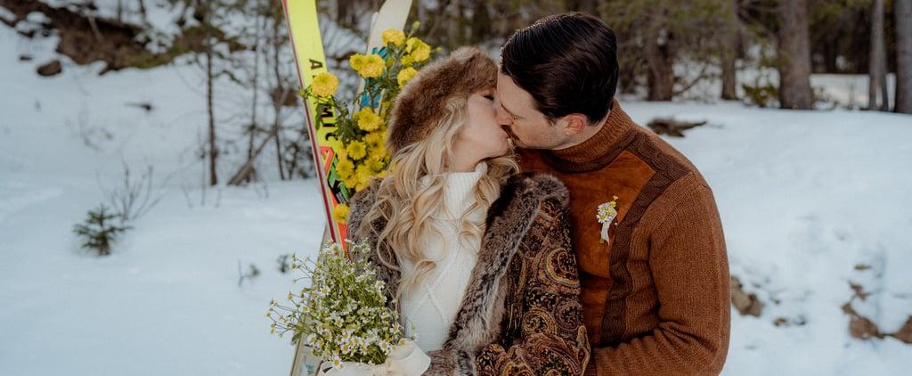 Vintage Colorado Snow Lodge Wedding