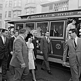 Princess Margaret and Lord Snowdon See a San Francisco Streetcar