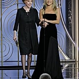 Yes, Jennifer Aniston and Angelina Jolie Were Breathing the Same Air at the Golden Globes