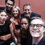 Reunited and it feels so good! Corbin Bleu, Ashley Tisdale, Monique Coleman, Olesya Rulin, and Lucas Grabeel posed with their former director Kenny Ortega.