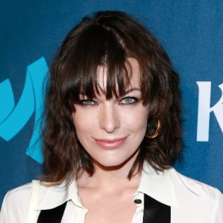 Milla Jovoich's New Dark Hair and Fringe