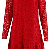 Closet Red Lace High Collar Dress