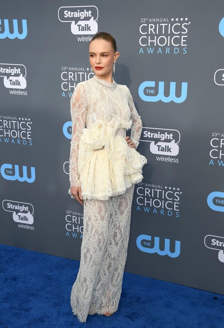 Kate Bosworth's White Dress at Critics' Choice Awards 2018