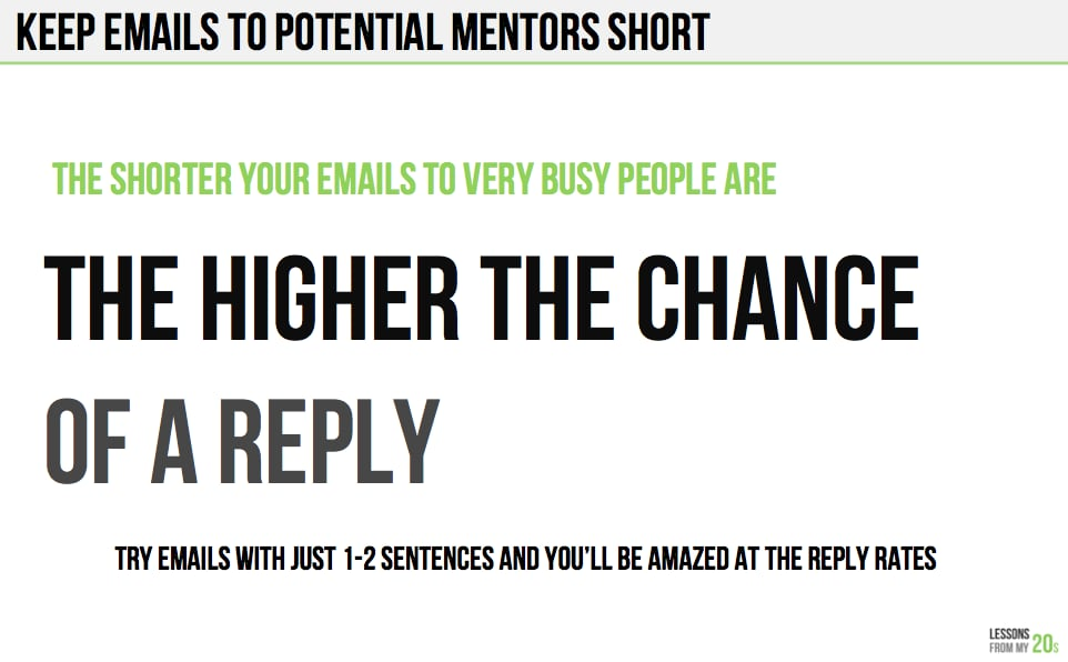 A Great Way to Get a Response From a Potential Mentor