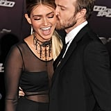 Lauren Parsekian and Aaron Paul Were Too Cute at the Need For Speed Premiere