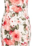 Quiz cream crepe floral print midi dress (£25)
