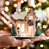 Nostalgic Village Pink Snowman House