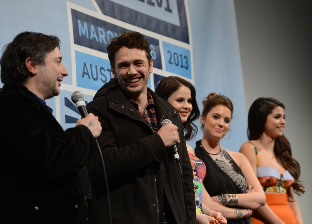 James Franco had a laugh during his Spring Breakers Q&A at SXSW.