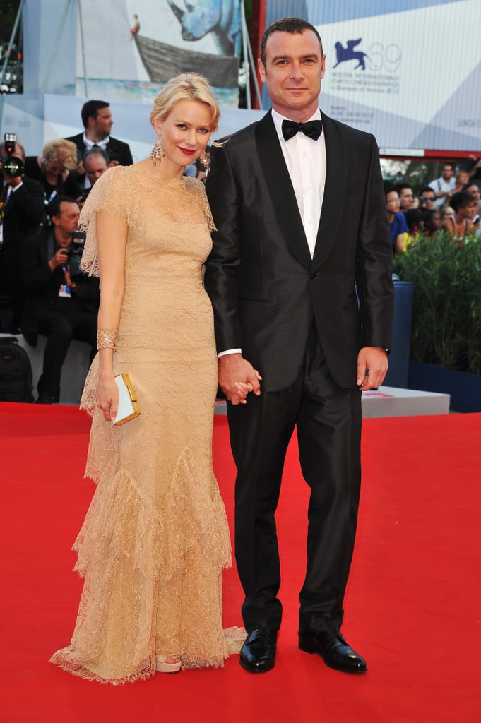 Liev Schreiber hit the red carpet at tonight's The Reluctant Fundamentalist Venice Film Festival screening, joined by Naomi Watts, who was dressed in a gold Marchesa gown. Liev and Naomi weren't the only hot couple in attendance, since Kate Hudson arrived on the arm of Matt Bellamy. The festival kicks off today with Liev and Kate's world premiere — check back with us often for all the news and photos from Venice! Naomi's been shooting Diana on location in London but took a well-deserved break to join Liev in Italy. He may return the favor next month when her upcoming feature, The Impossible, makes its world premiere at the Toronto International Film Festival.