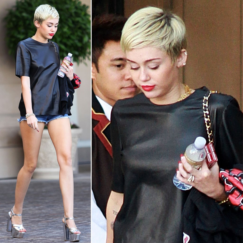 Miley Cyrus Wearing Her Ring in LA