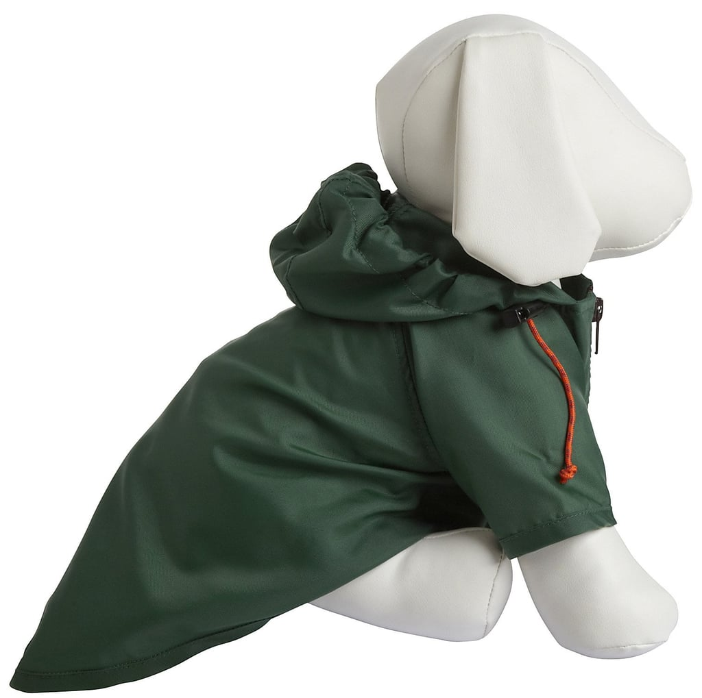 On blustery April days, throw on Wagwear's nylon rain-breaker ($42–$52) to repel rain and wind.