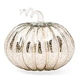 Glass Led Pumpkin Decor