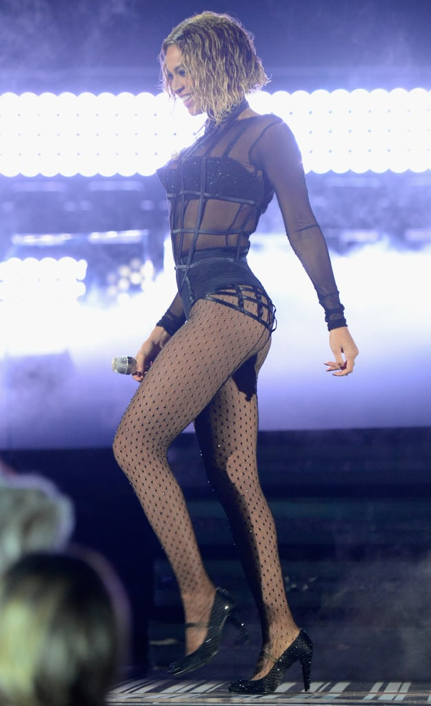 Beyonce Lingerie Outfit at Grammys 2014