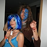 Bitsie posed with her pal, Maroon 5 pianist Jesse Carmichael, who was dressed as Mel Gibson in Braveheart.