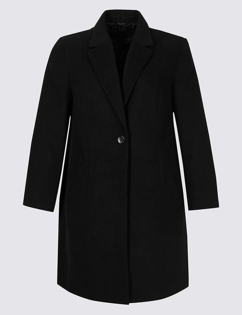 Marks & Spencer Curve Single-Button Coat