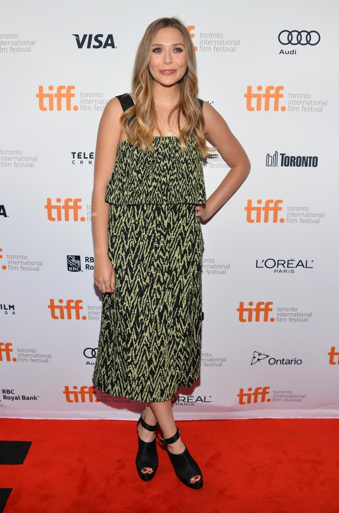 Elizabeth Olsen wore a Proenza Schouler frock at the Therese premiere.
