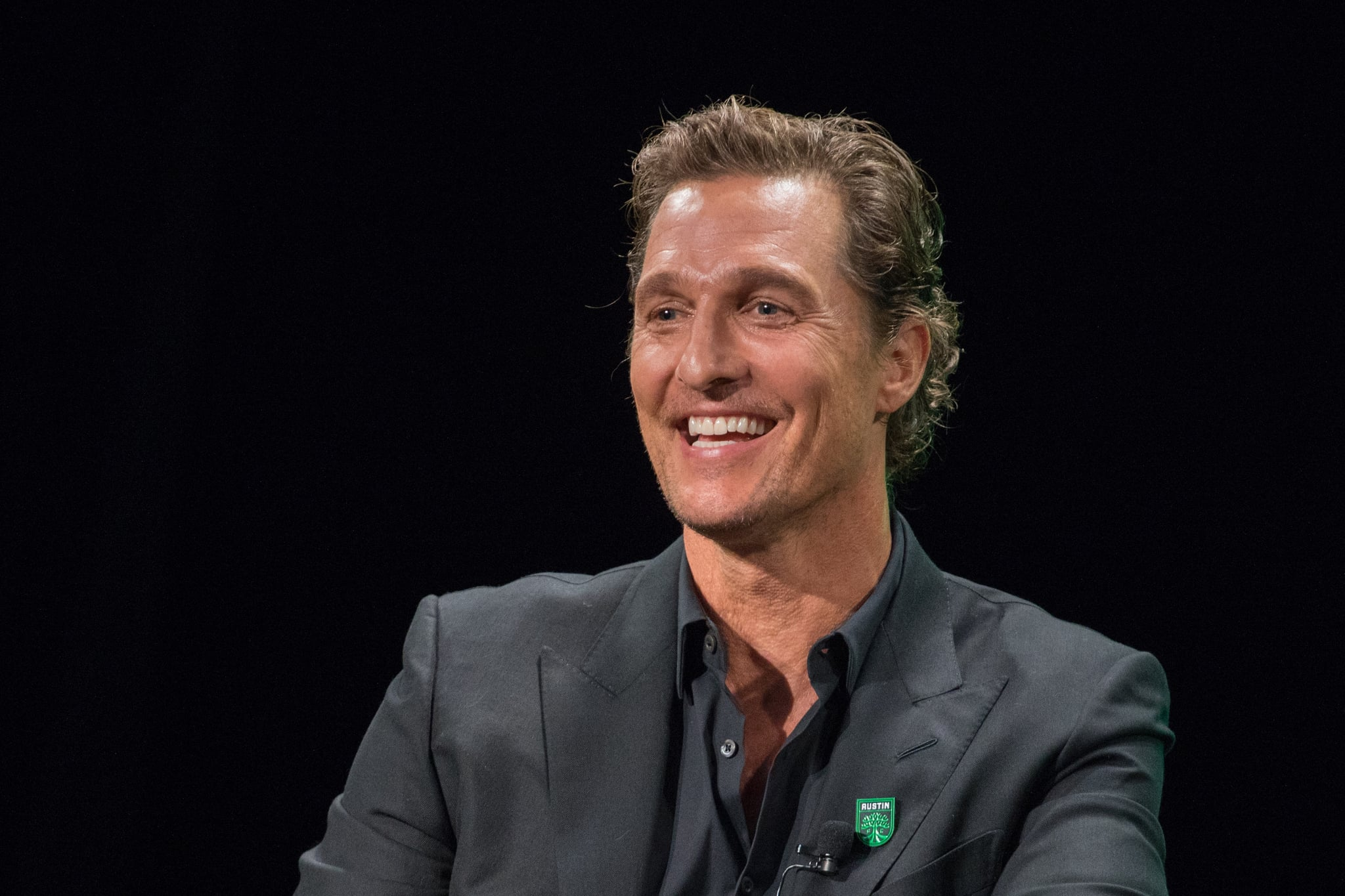AUSTIN, TEXAS - AUGUST 23: Matthew McConaughey, Academy Award-winning actor attends the Austin FC Major League Football club announcement of four new investors including himself as the 'Minister of Culture' at 3TEN ACL Live on August 23, 2019 in Austin, Texas. (Photo by Rick Kern/Getty Images)