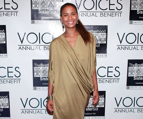 Slide Picture of Joy Bryant Wearing Gold at Event in New York