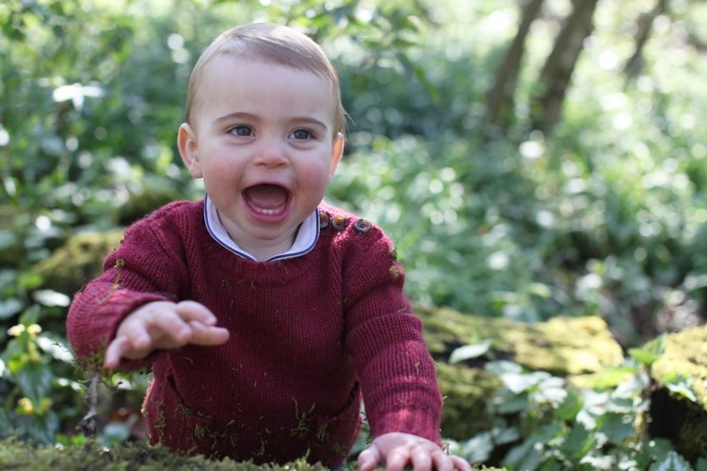 "Prince Louis is celebrating a very special milestone: his first birthday! The tiny tot turns one on April 23, and Kensington Palace released three adorable new portraits ahead of his birthday on Monday. ""The Duke and Duchess of Cambridge are delighted to share three new photographs of Prince Louis ahead of his first birthday tomorrow 🎈"" the statement read. ""The photographs were taken earlier this month by The Duchess at their home in Norfolk."" In the precious shots, Louis is shown flashing his baby teeth for the first time ever. He's also pictured wearing a red sweater with buttons in two of the snaps, while in another, he has on a bright blue sweater with a dog on it. So cute! The last time we got a glimpse of Louis was in Prince William and Kate Middleton's 2018 Christmas card, so these new portraits are certainly a treat!       Related:                                                                                                           Prince Louis Is Already Winning Over Our Hearts, and He's Not Even a Week Old"
