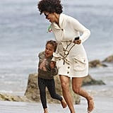 Halle Berry and Nahla Aubry hit the beach in LA.