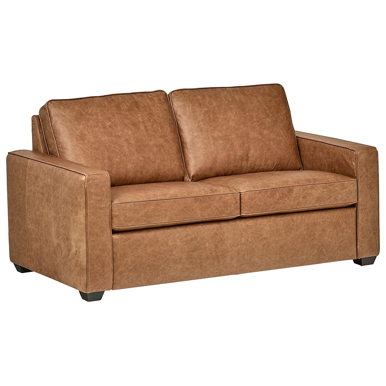 Rivet Andrews Modern Classic Top-Grain Leather Sofa | The ...