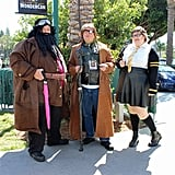 Hagrid, Mad-Eye Moody, and a Hufflepuff Student