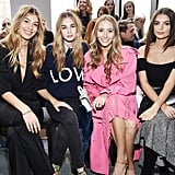 Camila Morrone, Laura Love, Harley Viera-Newton and Emily Ratajkowski at Michael Kors