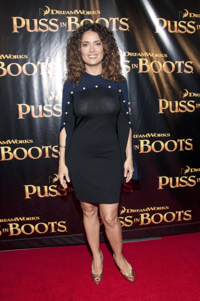 Salma Hayek at the Puss in Boots premiere in SF.
