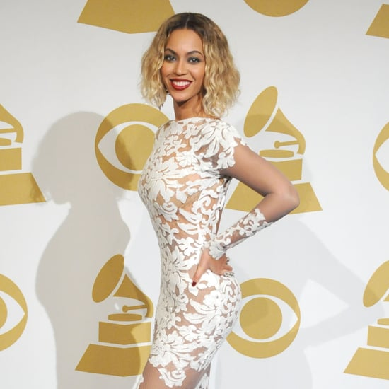 Beyonce's Grammy Dress 2014 as Nail Art | Tutorial